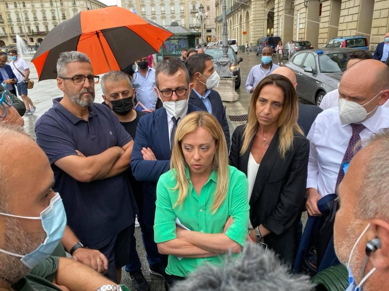 A Torino Con Giorgia Meloni Per Incontrare I Lavoratori Ex Embraco