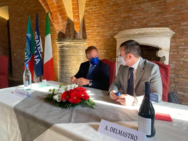 A  Vercelli con Francesco Lollobrigida e Emanuele Pozzolo per la presentazione di Carlo Riva Vercellotti consigliere regionale piemontese