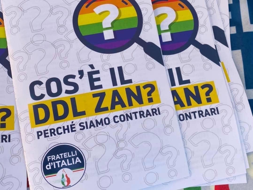 Al banchetto di Fratelli d'Italia contro il Ddlzan