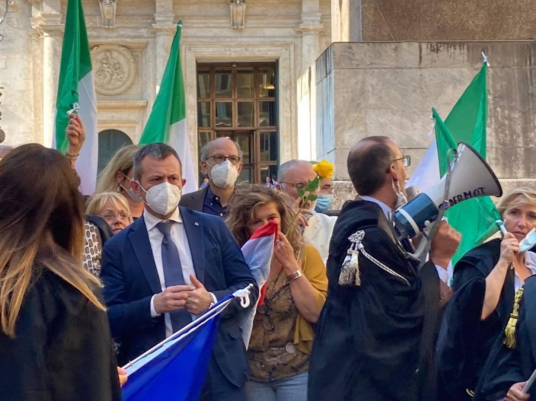 Alla manifestazione della Magistratura Onoraria