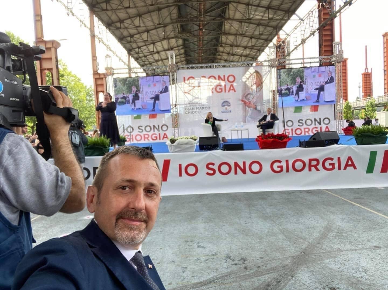 """Alla presentazione di """"Io Sono Giorgia"""" a Torino."""